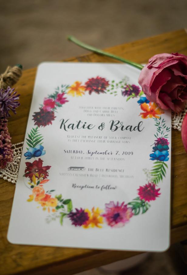 Katie & Brad | INVITATION