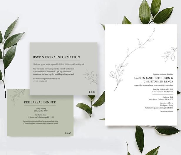 Lauren & Chris | INVITATION SUITE