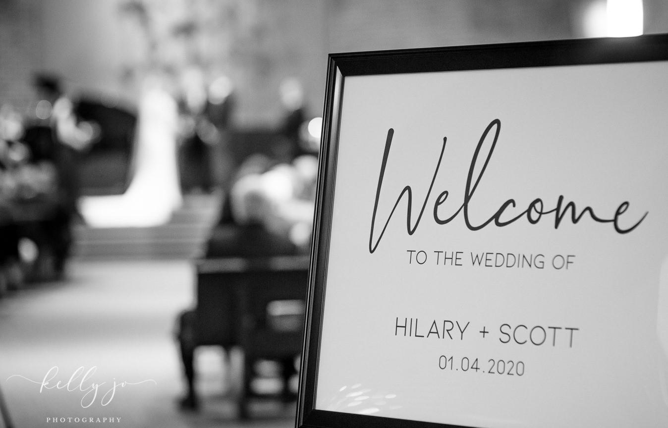 Hilary & Scott | WELCOME SIGN