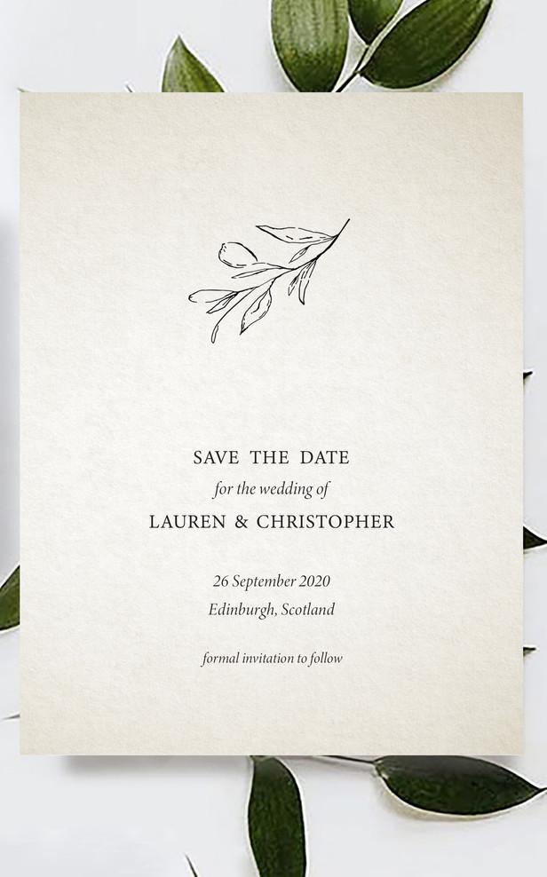 Lauren & Chris | SAVE THE DATE