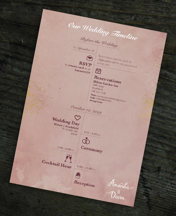 Amanda & Devin | INFORMATION CARD