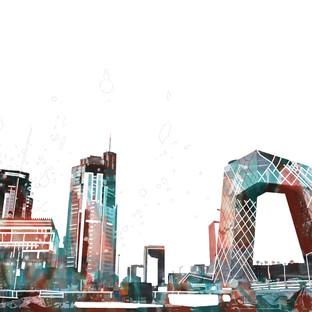 Downtown Beijing, China