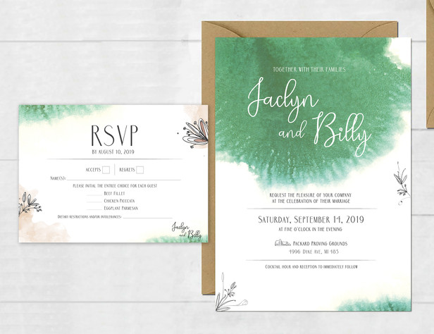 Jaclyn & Billy | INVITATION AND RSVP