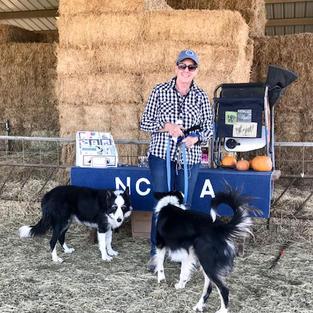 Judy Loflin with Jill wins the Open Trial on Saturday