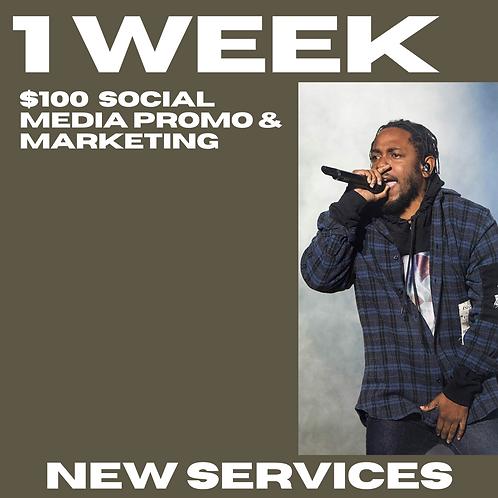 1 Week Promo Social Media & Email Blast