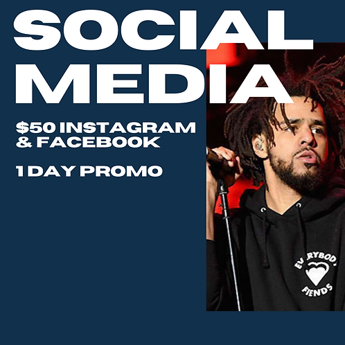 Social Media Post 1 day for Promo (Instagram and Facebook)