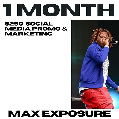 1 Month Promo Social Media & Email Blast