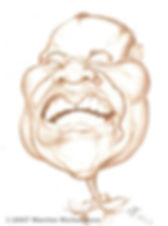 Caricature of Louie Armstrong