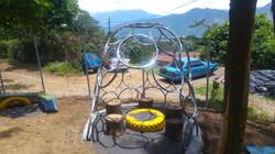 bike rings garden house