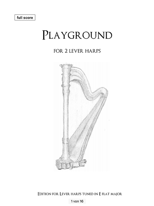 PDF Noten - Playground for two lever harps