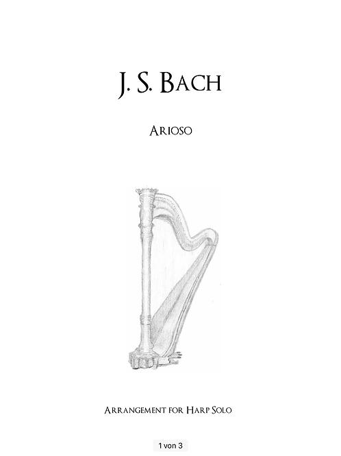 PDF Noten: Bach - Arioso - Harfe solo