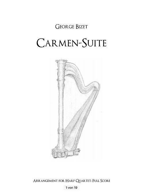 PDF Noten Carmen-Suite für Harfenquartett