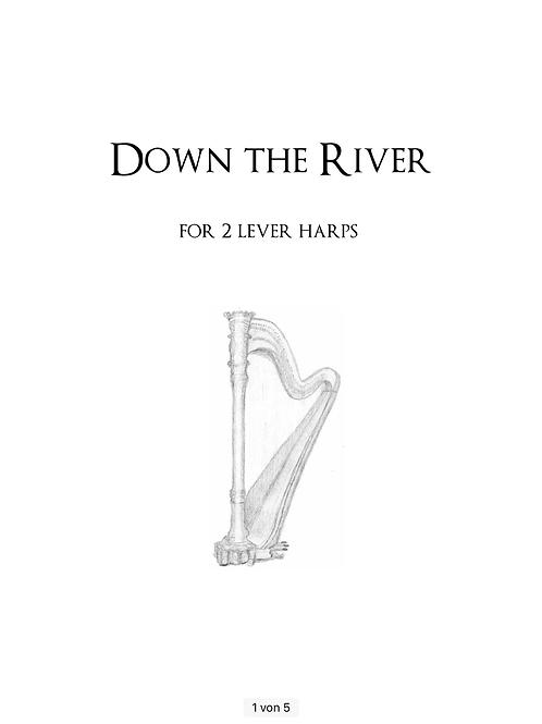 PDF Noten - Down the River für 2 Hakenharfen