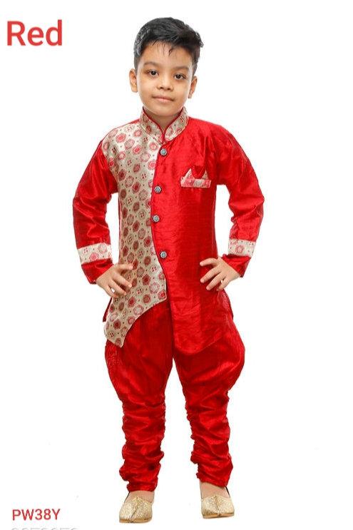 *Adorable Kid's Boy's Art Silk Kurta Sets