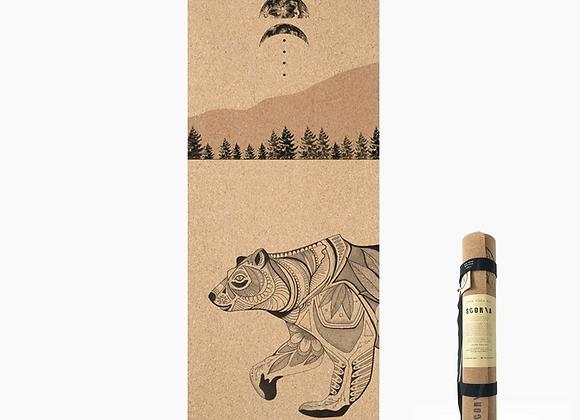 Night Bear Cork Yoga Mat / 4.5mm