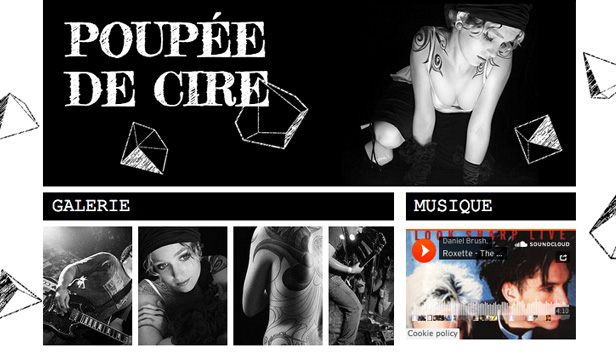 Arts de la scène website templates – Chanteuse Rock