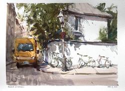 Munich Afternoon. Watercolour.