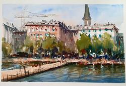 Copenhagen. Watercolour.