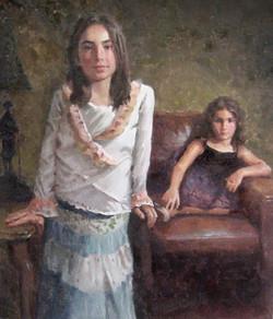 Bridget & Veronica. Oil on Canvas -