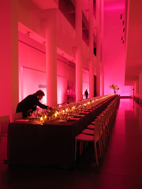 Creativity and Production Event Conference for Design Hotels in Barcelona. Dinner at MACBA Museum