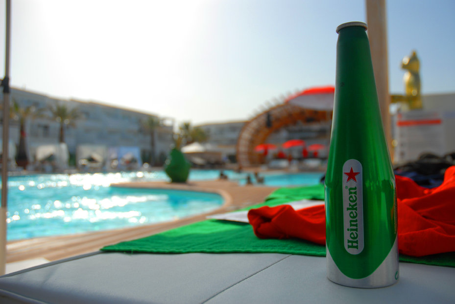 Creativity and event production for Heineken incentives Ibiza