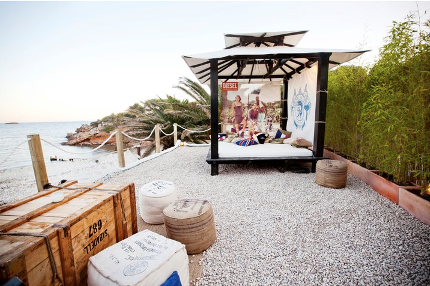 Creativity concept and event production, design and construction for Diesel in Ibiza