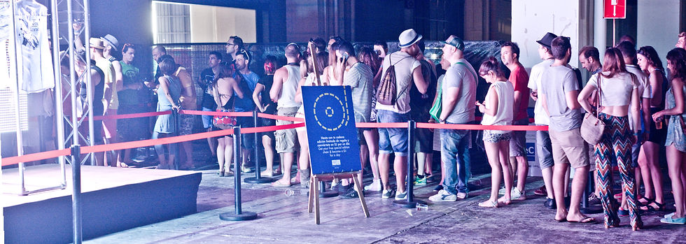Creative Concept and event production for Bershka event at Sonar barcelona. Photo activation