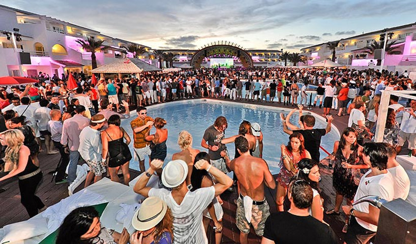 Creativity and event production for Heineken incentives Ushuaia Ibiza