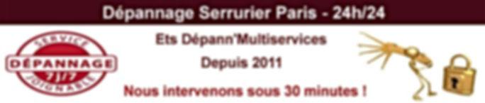 Dépannage-Serrurier-Paris
