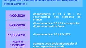 DATES LIMITES DECLARATION DES REVENUS