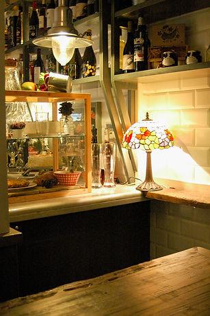 Vitrina y lámpara La Platería