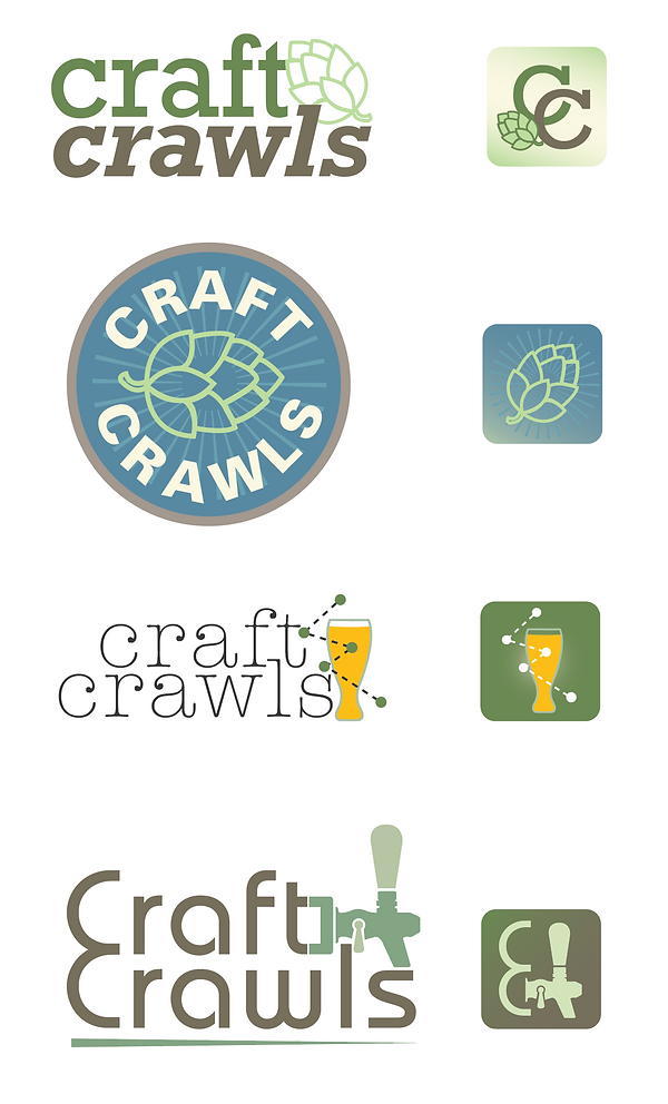 Craft Crawls Logos and App Icons