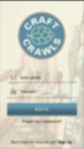Craft Crawls App Design