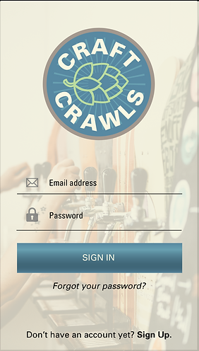 Craft Crawls App Design