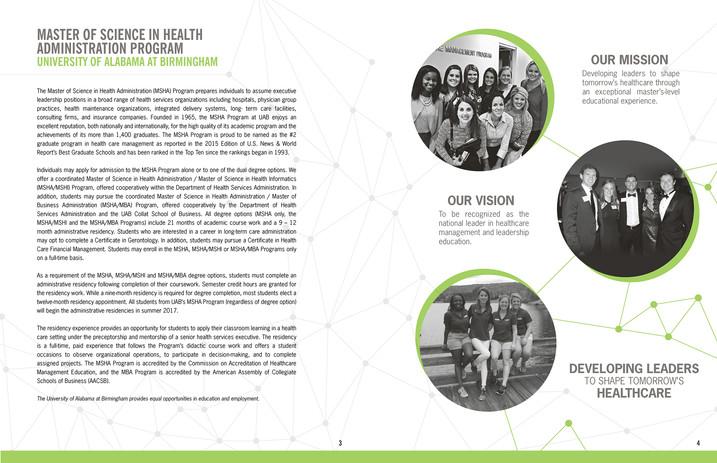 UAB Resume Book Information Page Design