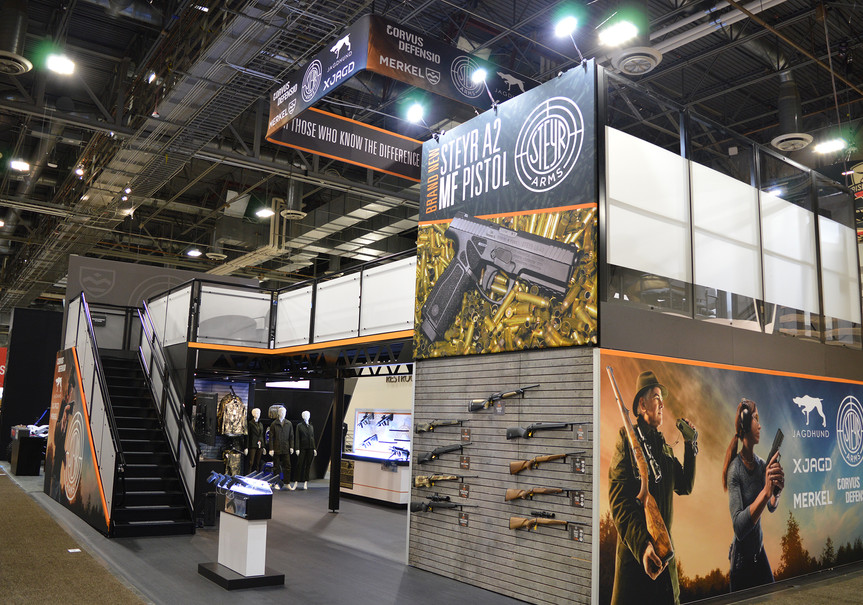 Steyr Arms SHOT Show Booth Angle 1