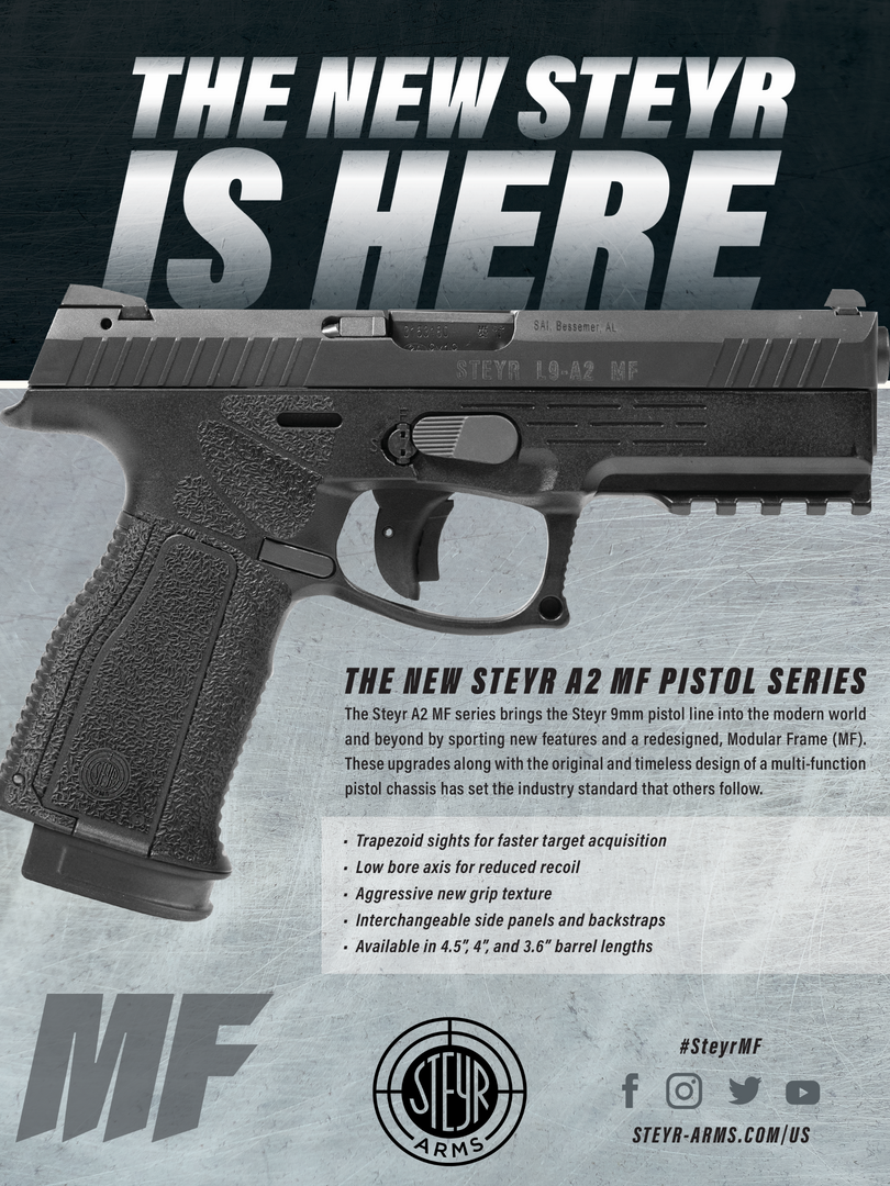 Steyr Pistol Ad - Print Aug 2019