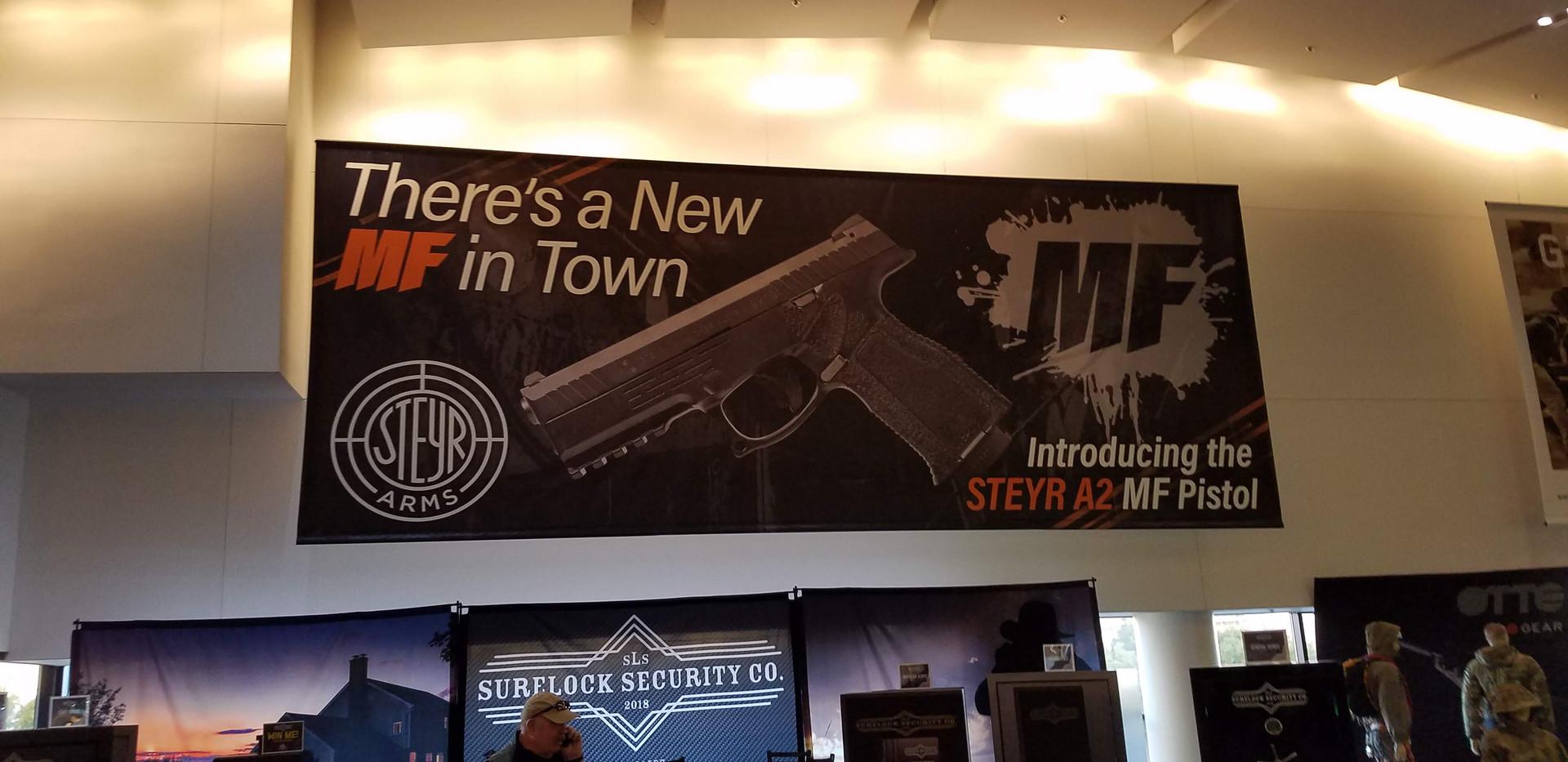 Steyr Arms 30' SHOT Show Hall Banner