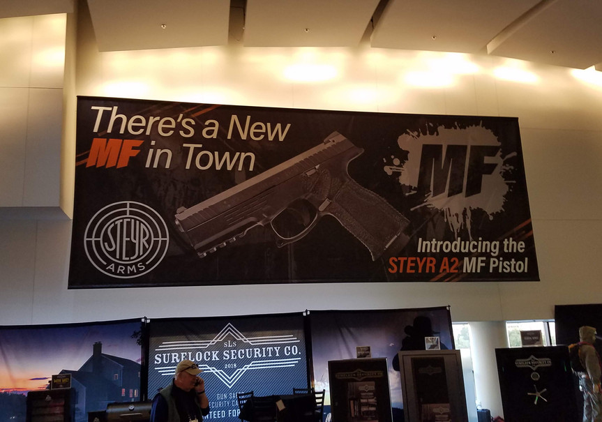 Steyr Arms 30' SHOT Show Hall Banner
