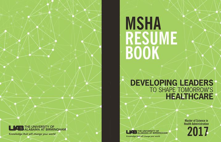 UAB Resume Book Cover Design