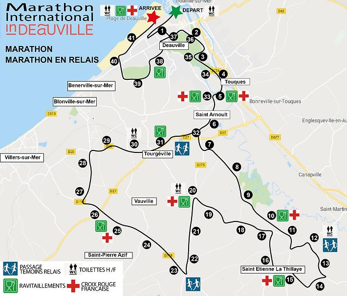 Parcours Marathon et Marathon en relais.