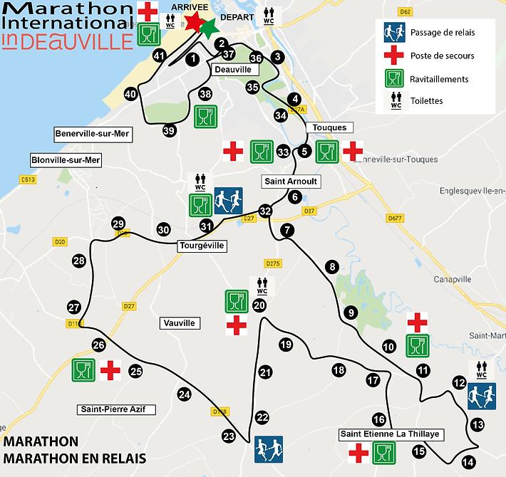 parcours marathon pour site au17 juillet