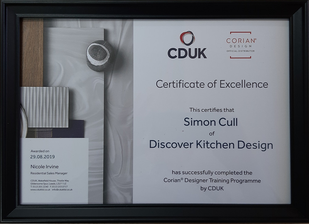 CDUK Training certificate