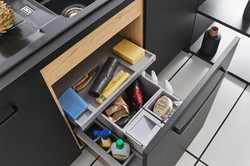 Integrated kitchen bin solutions