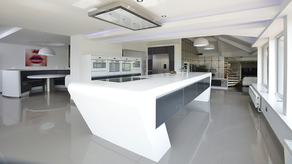 Thermoformed Corian kitchen