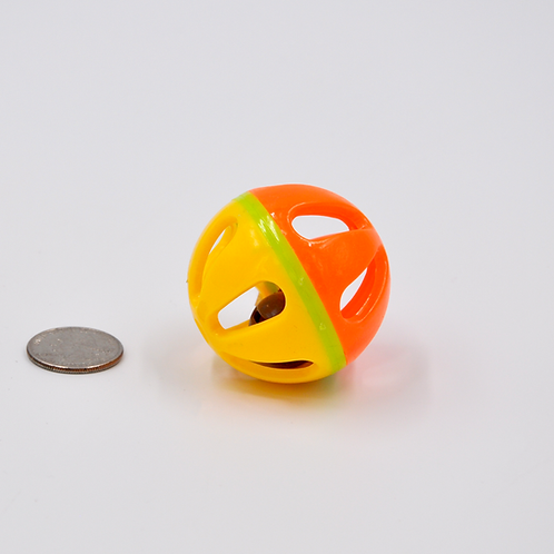 Yellow Green Orange Rattle Ball