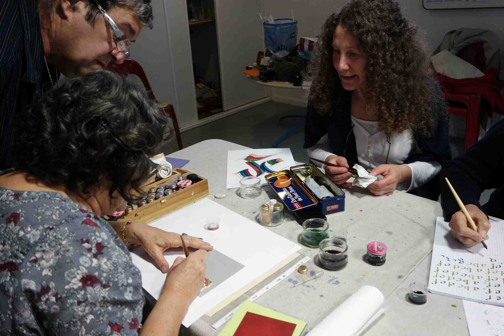 Atelier Calligraphie du journal