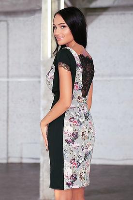 Вечернее платье с кружевом от российского дизайнера одежды Полины Ефимовой