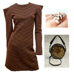 Шерстяное платье Эльф