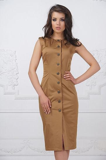 Классическое, деловое платье на лето от российского дизайнера Полины Ефимовой